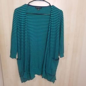 Tribal Blue and Green Striped Cardigan size XS